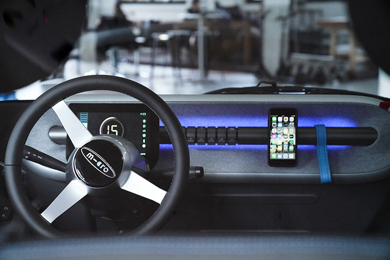 dashboard with phone holder
