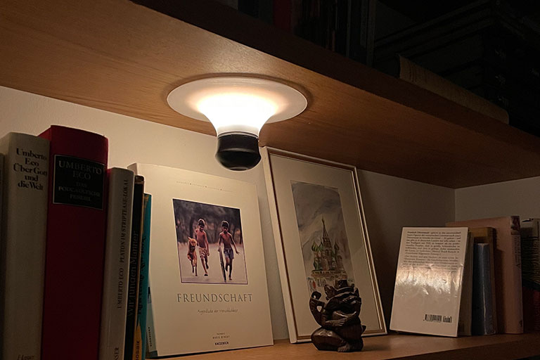 suction cup lamp attached to any surface