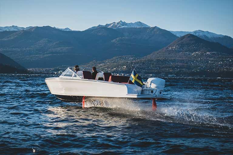 A Hydrofoil Electric Boat Candela C-7
